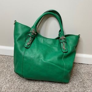 JustFab green tote bag